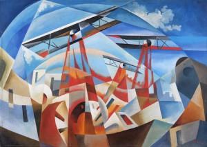tullio-crali-bombardamento-aereo-1932 cor