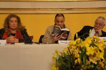 """Magdi Cristiano Allam durante la presentazione del suo ultimo libro """"Islam. Siamo in guerra""""."""