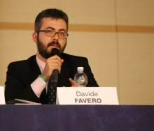 Il Consigliere Davide Favero durante il suo intervento